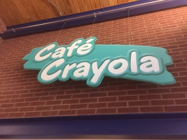 Cafe Crayola - We had Pizza and Coffee