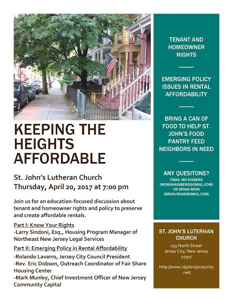 Keeping The Heights Affordable Flyer